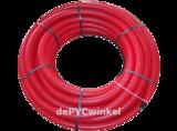 Mantelbuis 90mm rood l=50m_