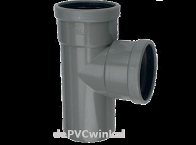 PVC Manchet T-stuk 90` 125mm 2xmof/spie SN8