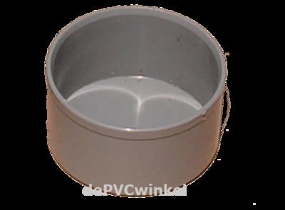 PVC eindkap 40mm grijs