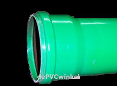 PVC afvoerbuis groen manchet 200x5.9mm sn8 l=5m