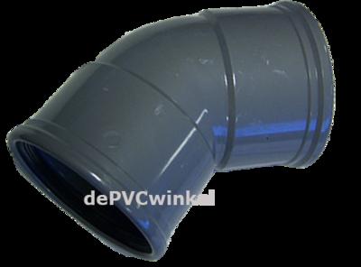PVC Manchet bocht 200mm 45`2xmof SN4