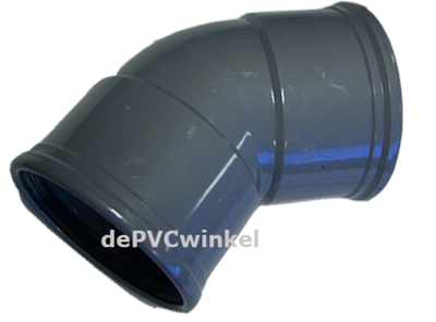 PVC Manchet bocht 125 45`2xM SN4