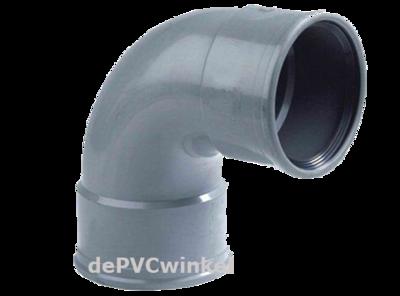 PVC Manchet bocht 200mm 90`2xmof SN4