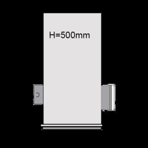 PVC Drainageput Ø315 H=500mm ( 1x aansluiting Klikmof 80mm/1x aansluiting 125mm )