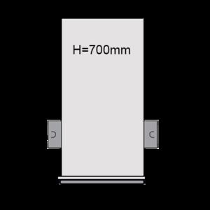 PVC drainput Ø315 H=700mm ( 2x aansluiting Klikmof 80mm )