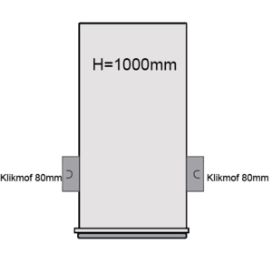 PVC Drainageput Ø315 H=1000mm ( 2x aansluiting Klikmof 80mm )