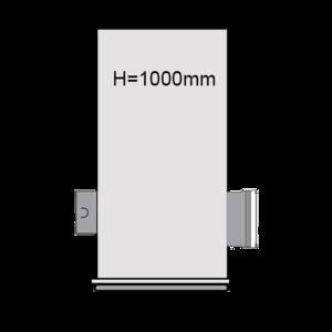 PVC Drainageput Ø315 H=1000mm ( 1x aansluiting Klikmof 80mm/1x aansluiting 125mm )
